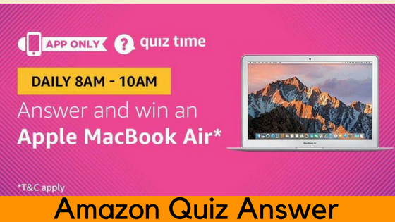 Amazon Apple MacBook Air Quiz Answer (22 July)