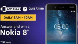 Amazon Nokia 8 Quiz Answer (28 July)