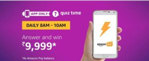 Amazon Quiz Answer And win 9999 (25 July)