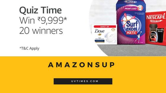 Amazon Super Value Day Quiz Answers