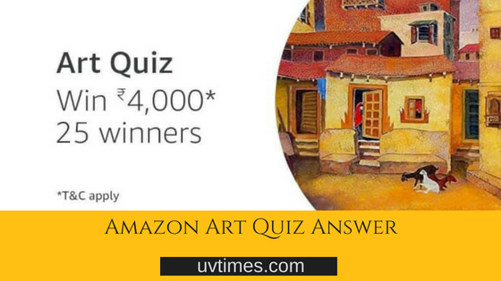 Amazon Art Quiz Answer (10 July)