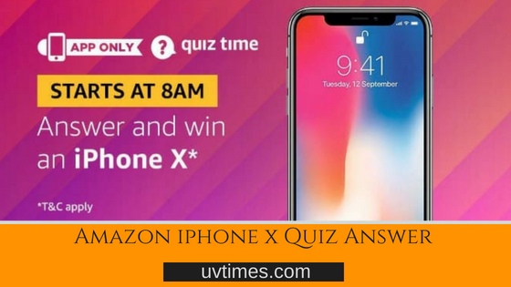 Amazon Iphone X Quiz Answer (18 July 2018)