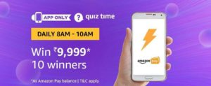 Amazon Quiz Time Quiz Answer (01 August)