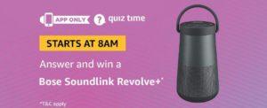 Amazon Bose Soundlink Revolve+ Quiz Answer (04 August)