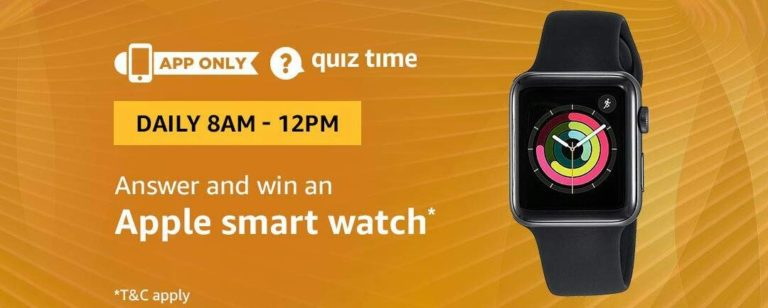 Amazon Apple Watch Quiz Answer 21 February