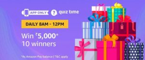 Amazon Quiz Time Answer 22 September