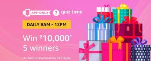 Amazon Quiz Time Answer 15 February