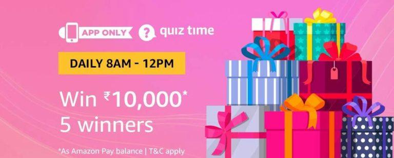 Amazon Quiz Time Answer 15 February