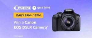 Amazon Canon EOS DSLR Camera Quiz Answer 23 February
