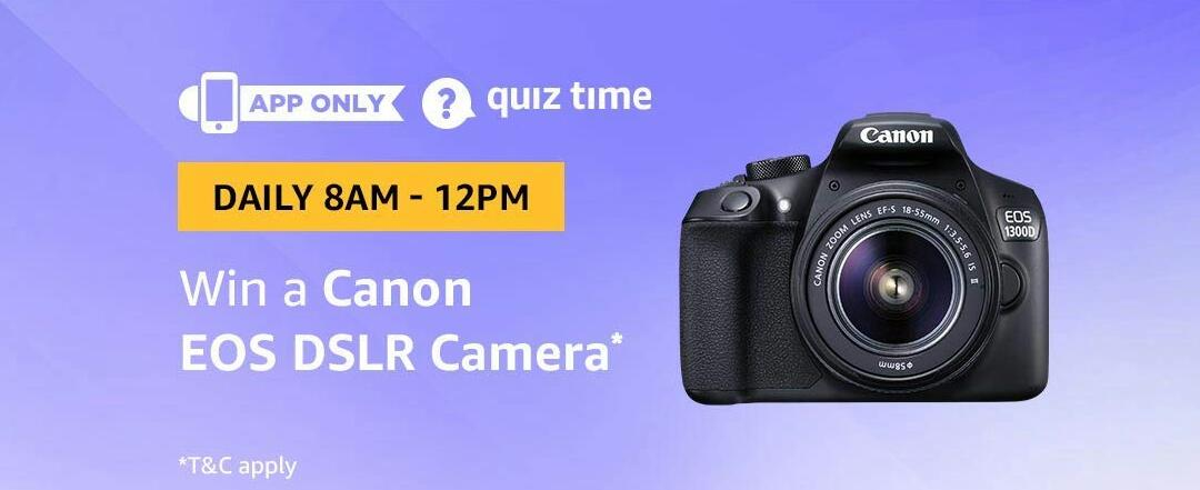 Amazon Canon EOS DSLR Camera Quiz Answer 23 February