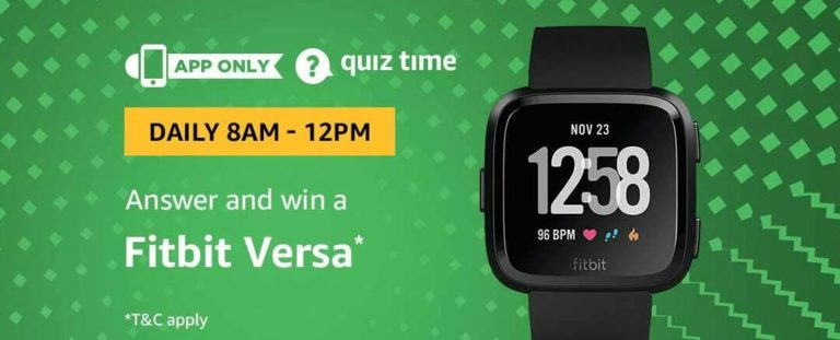 Amazon Fitbit Versa Quiz Answer 15 November