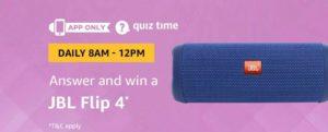 Amazon JBL Flip4 Quiz Answer 01 September