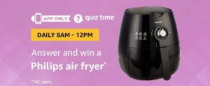 Amazon Philips Air Fryer Quiz Answer 14 September