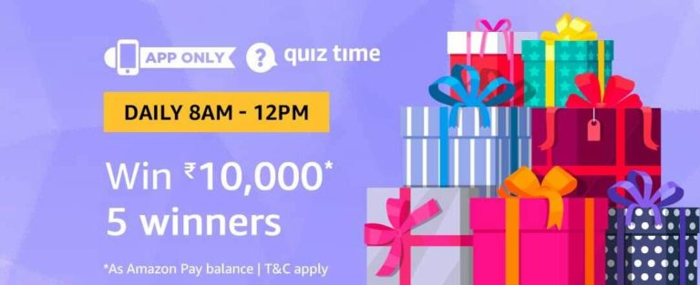 Amazon Quiz Time Answer 27 September