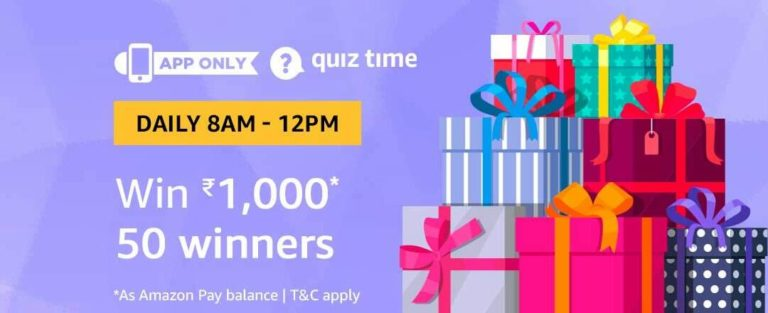 Amazon Quiz Time Answer 17 November