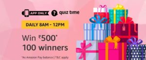 Amazon Quiz Time Answer 24 November