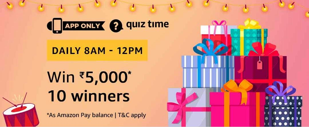 Amazon Quiz Time Answer 26 November