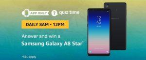 Amazon Samsung Galaxy A8 Star Quiz Answer 9 Septembe