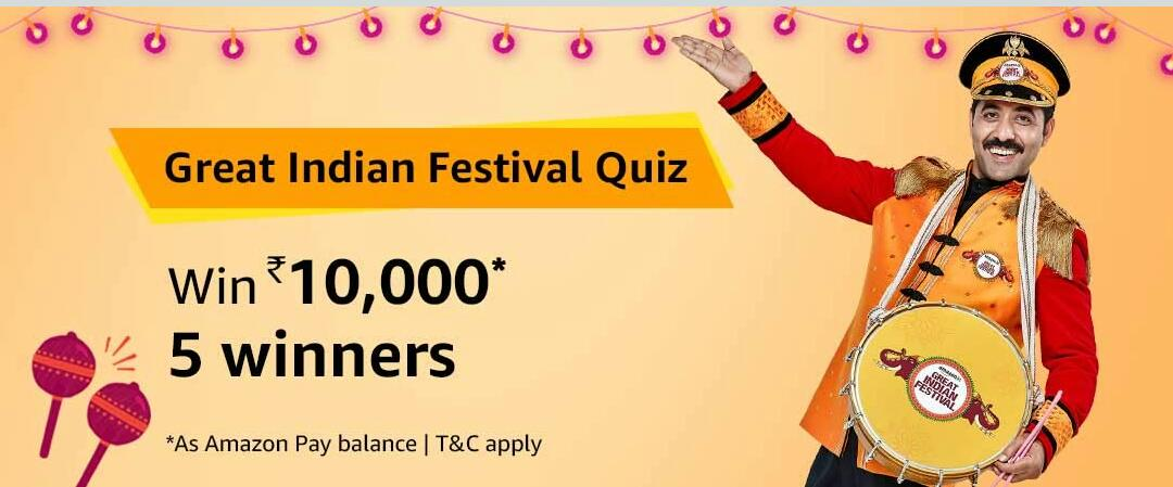 Amazon Great Indian Festival Quiz Answer 3 October