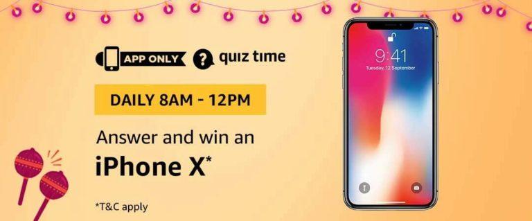 Amazon Iphone X Quiz Answer 8 October