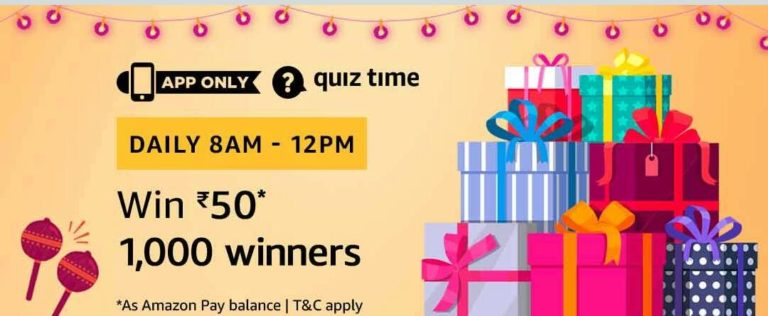 Amazon Quiz Time Answer 1 October