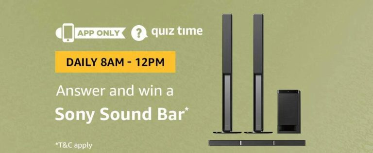 Amazon Sony Sound Bar Quiz Answer 30 October