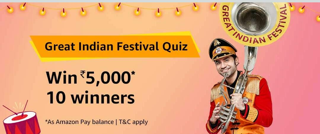 Amazon Quiz Time Answer & Win 5000 (1 October)