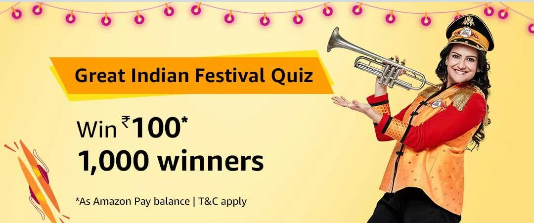 Amazon Great Indian Festival Quiz Answer 5 October
