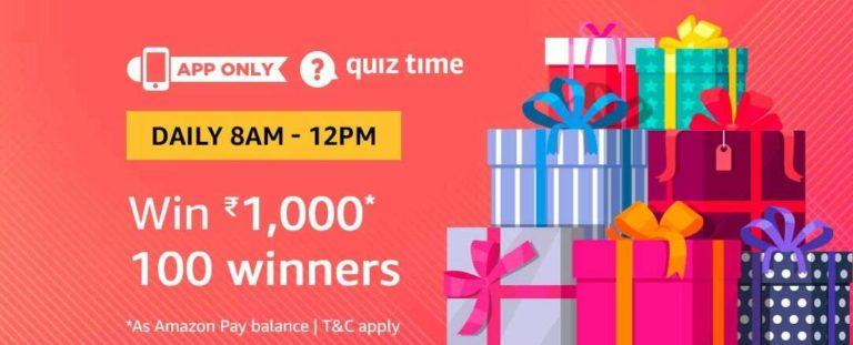 Amazon Quiz Time Answer 14 January
