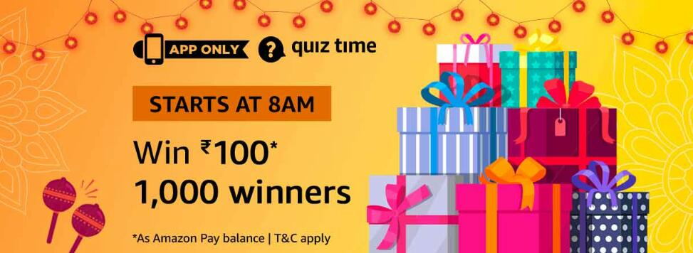 Amazon Quiz Time Answer 1 December