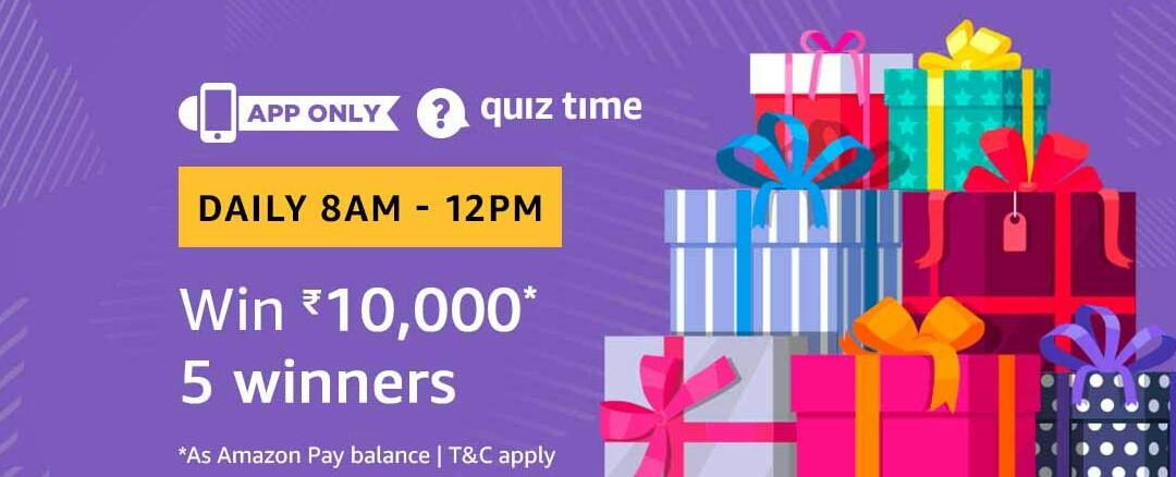 Amazon Quiz Time Answer 1 March