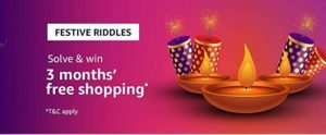 Amazon Festival Riddles Quiz Answer 18 October