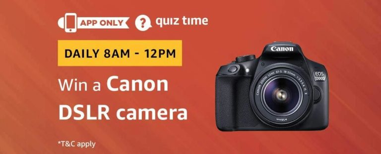 Amazon Canon DSLR Camera Quiz Answer 25 December