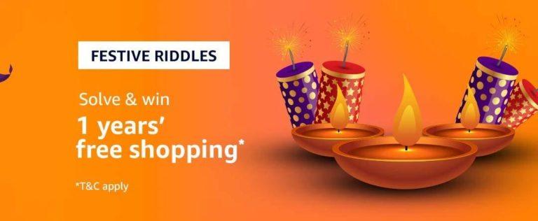 Amazon Festival Riddle Quiz Answer 7 November
