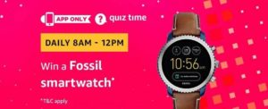 Amazon Fossil Grant Watch Quiz Answer 13 April