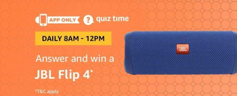 Amazon JBL Flip 4 Quiz Answer 27 November