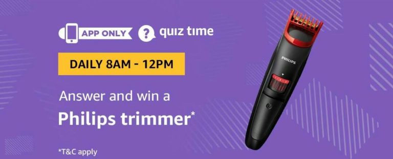 Amazon Philips Trimmer Quiz Answer 26 March