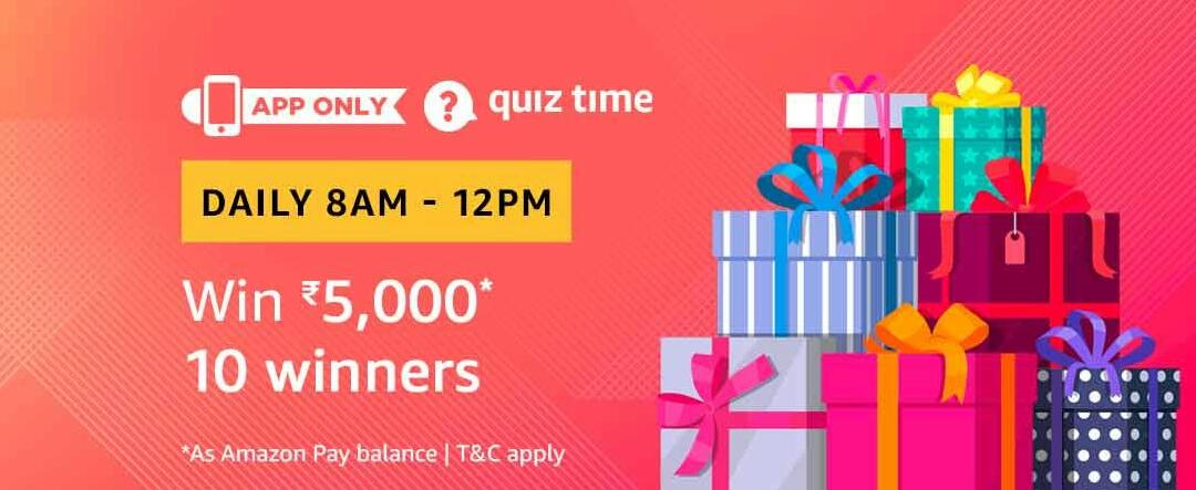 Amazon Quiz Time Answer 8 March