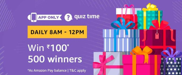 Amazon Quiz Time Answer 27 December