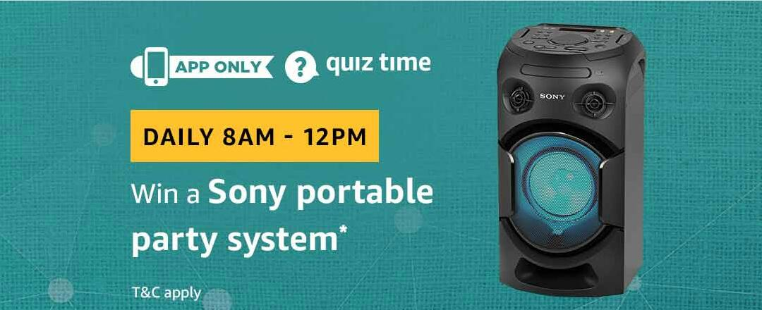 Amazon Sony Portable Party System Quiz Answer 5 March