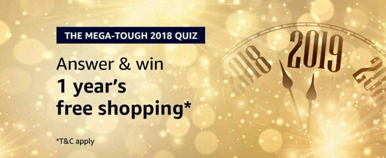 Amazon The Mega Tough 2018 Quiz Answer