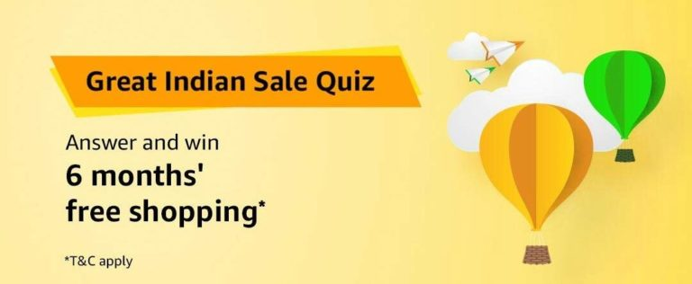 Amazon Great Indian Sale Quiz Answer 17 January