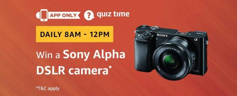 Amazon Sony Alpha DSLR Camera Quiz Answer 23 March