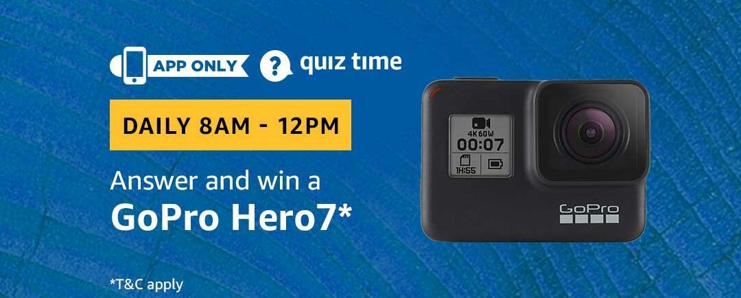 Amazon GoPro Hero 7 Quiz Answer 19 February