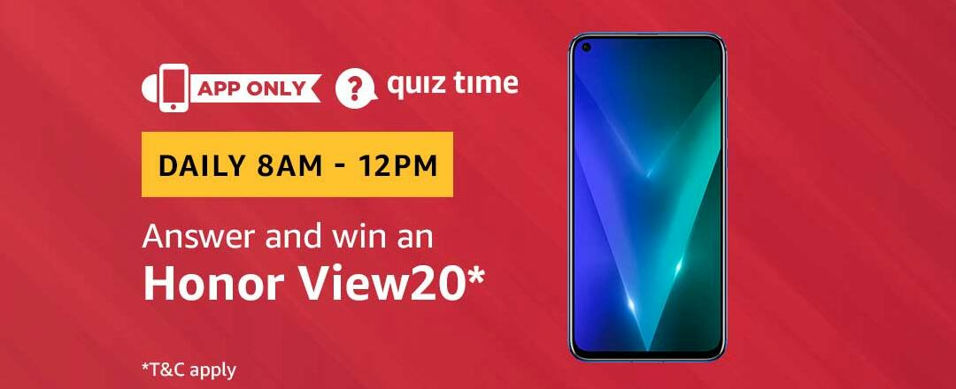 Amazon Honor View20 Quiz Answer 20 March