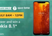 Amazon Nokia 8.1 Quiz Answer 13 February
