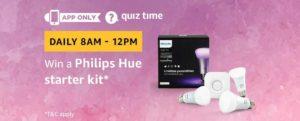 Amazon Philips Hue Starter Kit Quiz Answer 14 February