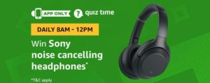 Amazon Sony Noise Cancelling Headphones Quiz Answer