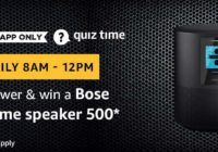 Amazon Bose Home speaker 500 Quiz Answer 30 March