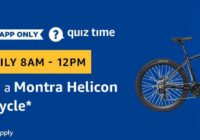 Amazon Montra Helicon Bicycle Quiz Answer 21 March
